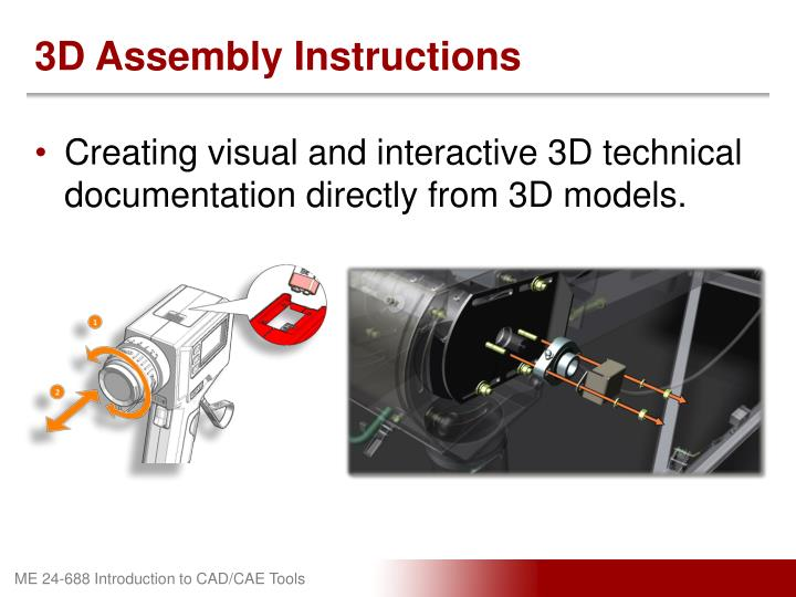 3D Assembly Instructions