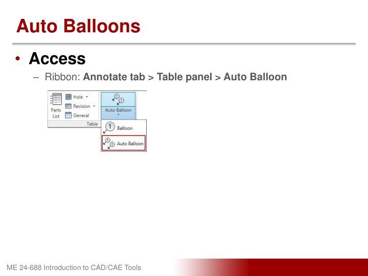 Auto Balloons