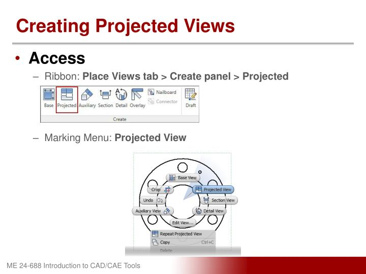 Creating Projected Views