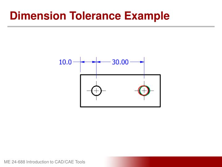 Dimension Tolerance Example