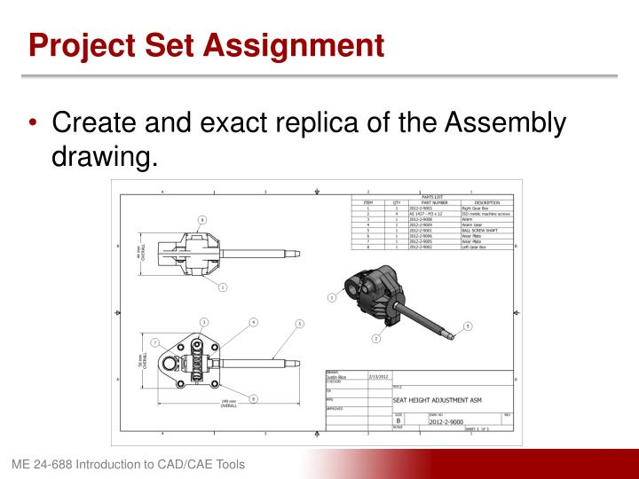 Project Set Assignment