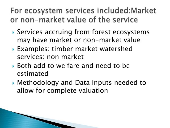 For ecosystem services