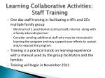 learning collaborative activities staff training