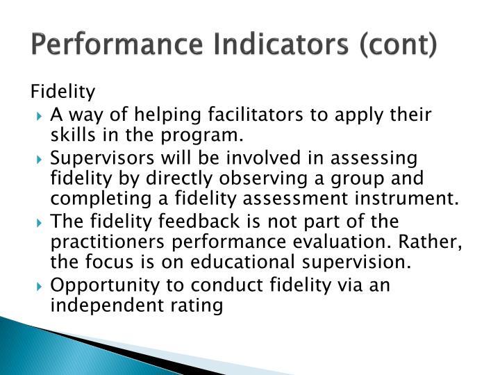 Performance Indicators (