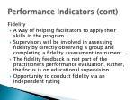 performance indicators cont1