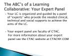 the abc s of a learning collaborative your expert panel