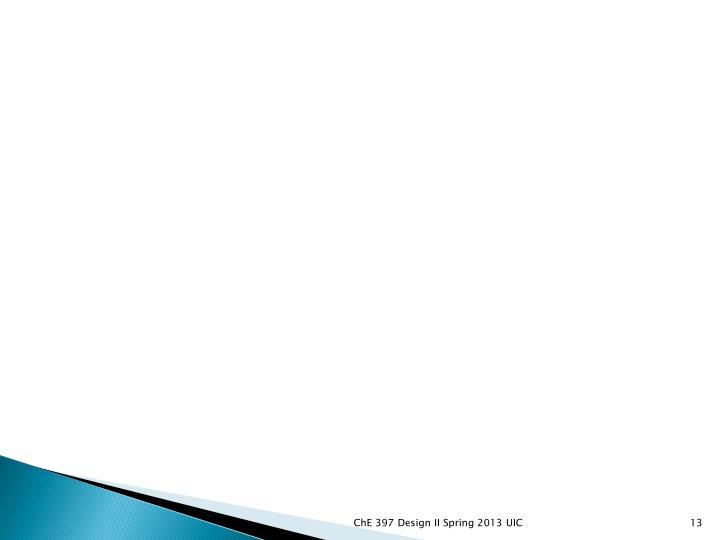 ChE 397 Design II Spring 2013 UIC