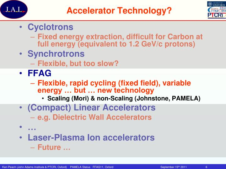 Accelerator Technology?