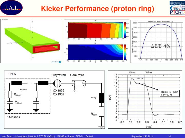Kicker Performance (proton ring)