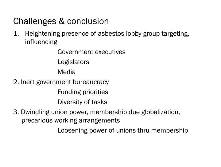 Challenges & conclusion