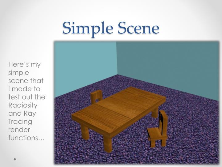 Simple Scene