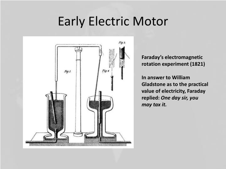 Early Electric Motor