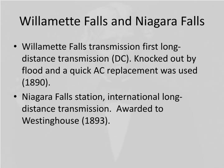 Willamette Falls and Niagara Falls