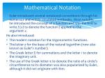 mathematical notation