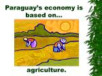paraguay s economy is based on