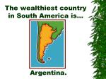 the wealthiest country in south america is