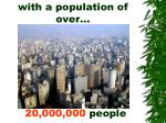 with a population of over