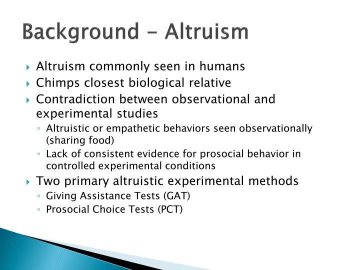 Background - Altruism