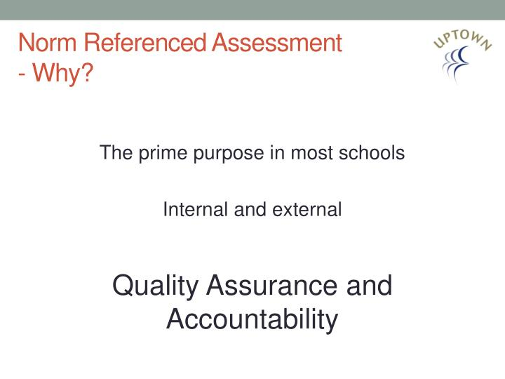 Norm Referenced Assessment