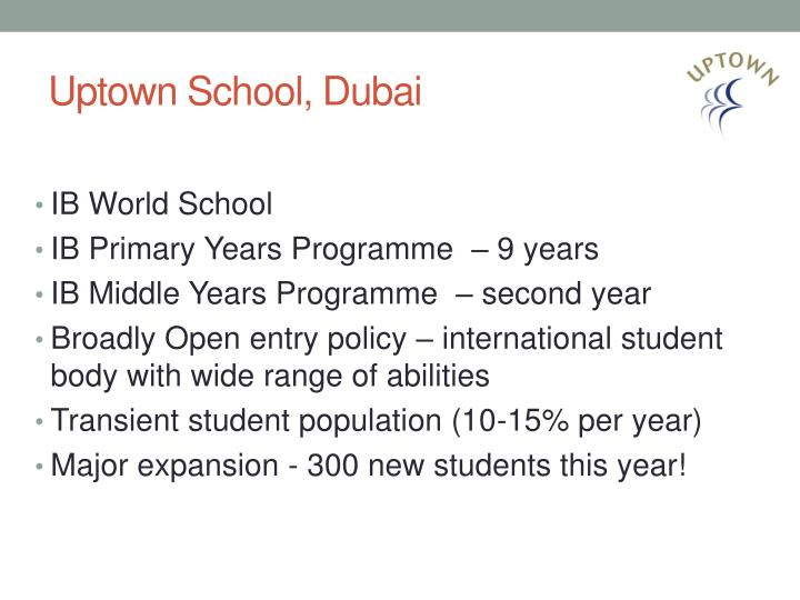 Uptown School, Dubai