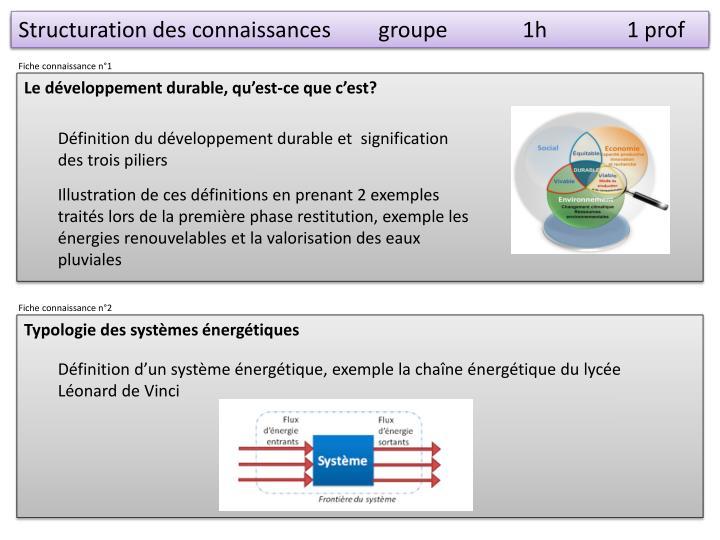 Structuration des connaissancesgroupe1h      1 prof