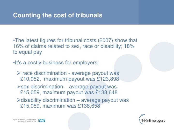 Counting the cost of tribunals