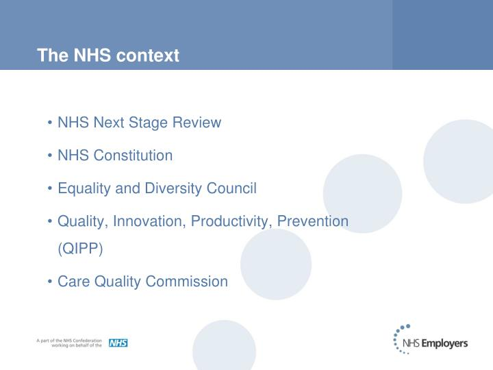 The nhs context