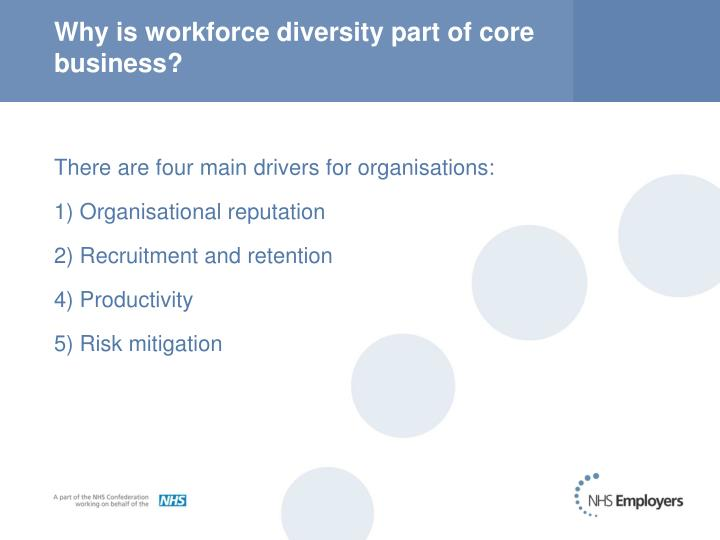 Why is workforce diversity part of core business?
