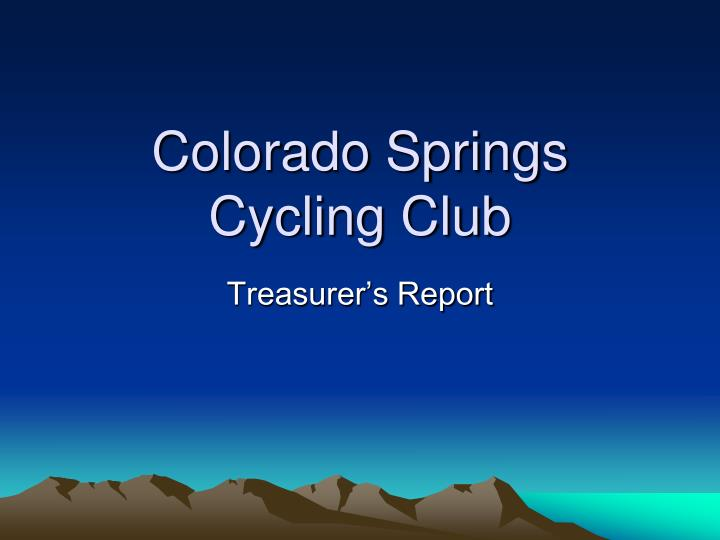 Colorado Springs Cycling Club