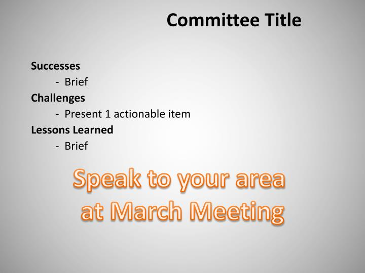 Committee Title