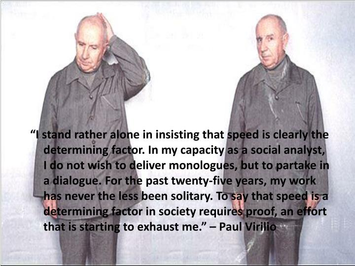 """I stand rather alone in insisting that speed is clearly the determining factor. In my capacity as..."