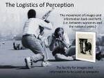 the logistics of perception