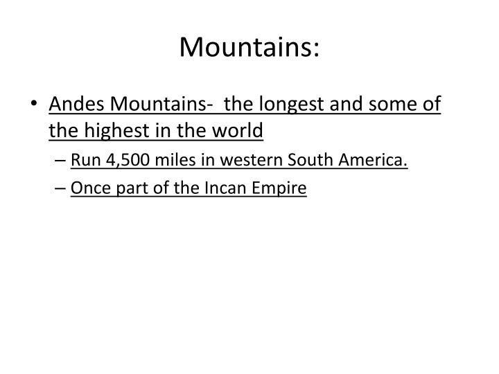 Mountains: