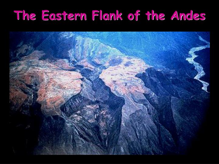 The Eastern Flank of the Andes