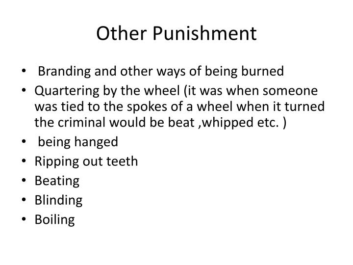 Other Punishment
