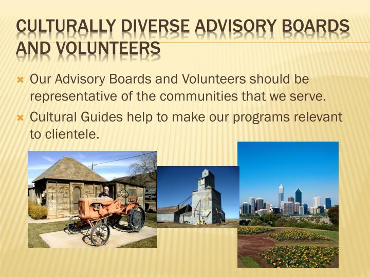 Culturally Diverse Advisory Boards