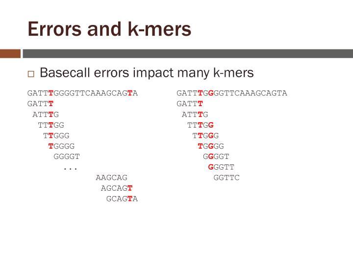 Errors and k-