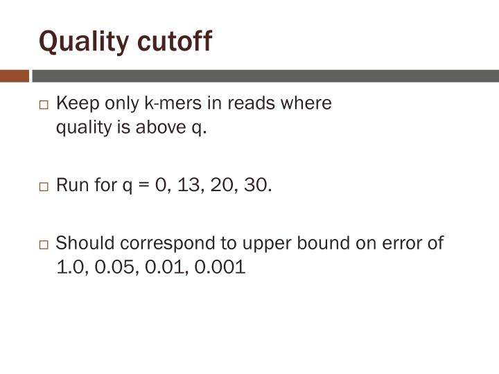 Quality cutoff