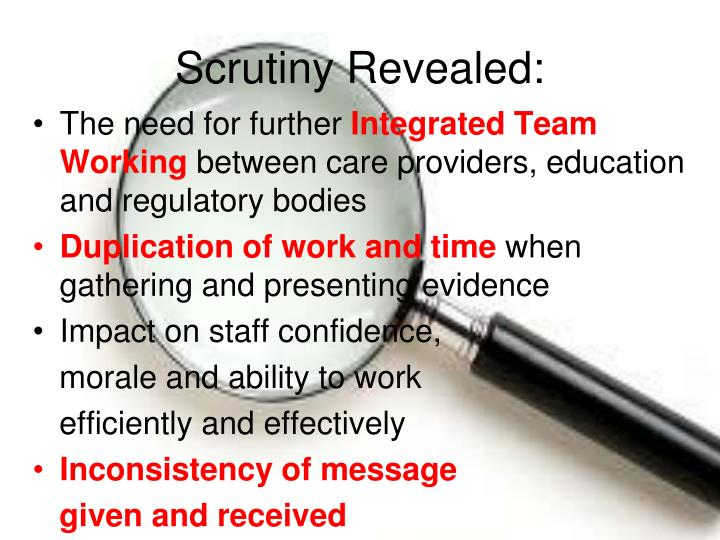 Scrutiny Revealed: