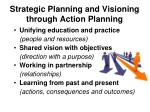 strategic planning and visioning through action planning