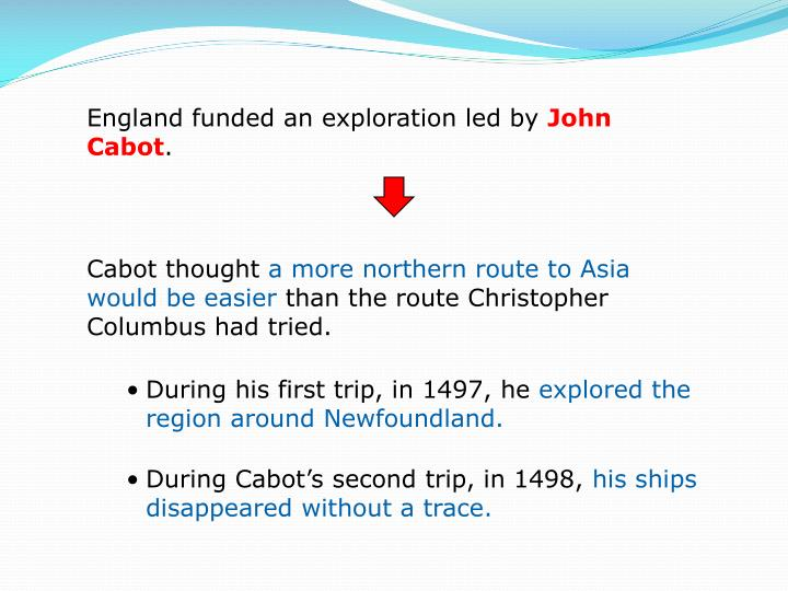 England funded an exploration led by