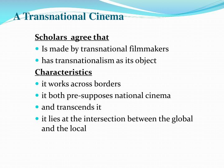 A Transnational Cinema