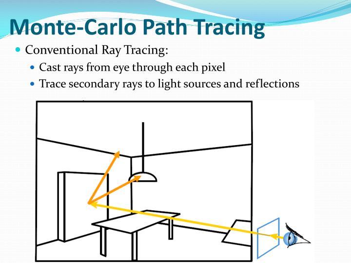 Monte-Carlo Path Tracing
