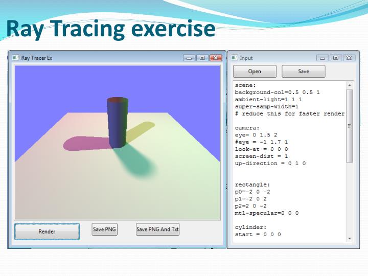 Ray Tracing exercise