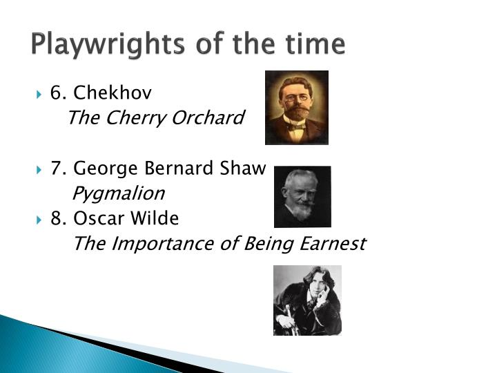 Playwrights of the time