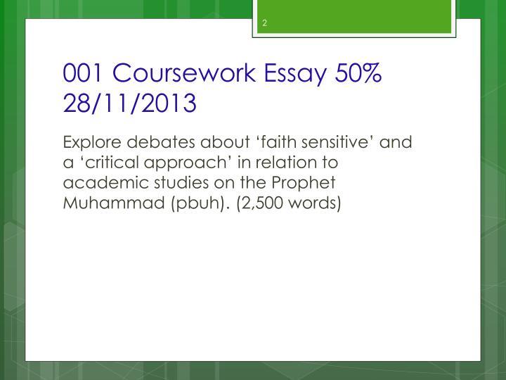 001 Coursework Essay 50% 28/11/2013