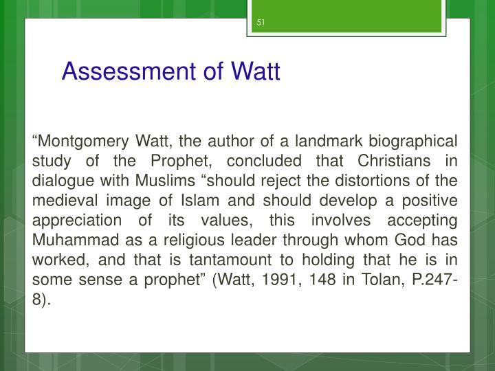 Assessment of Watt