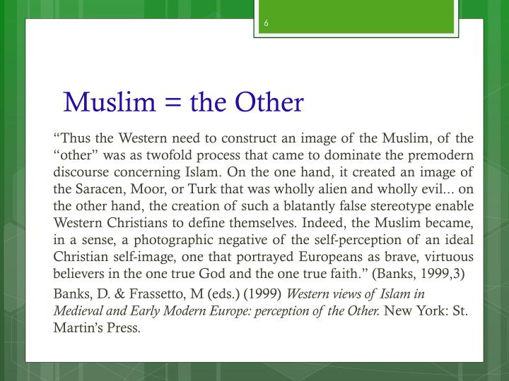 Muslim = the Other