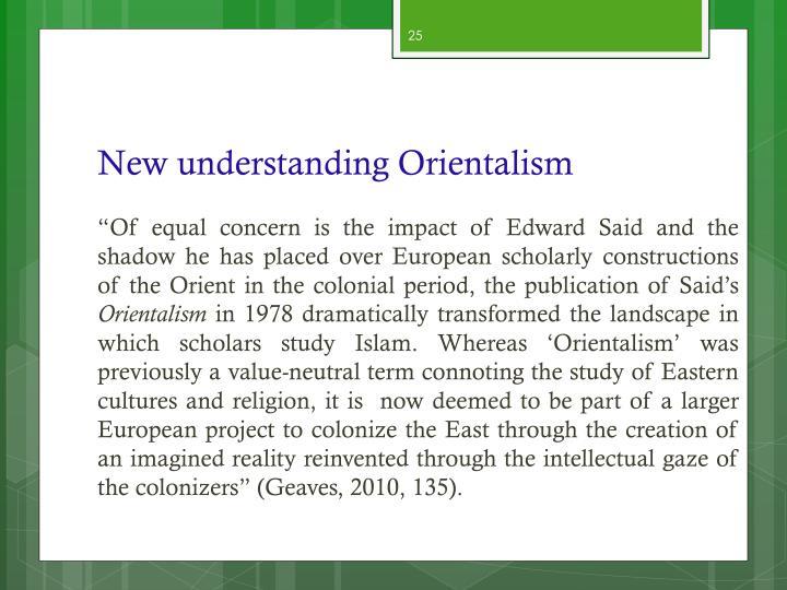 New understanding Orientalism