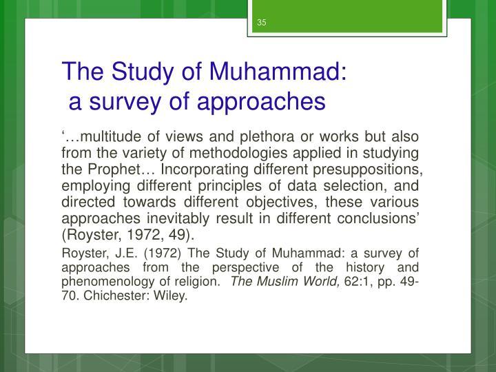 The Study of Muhammad: